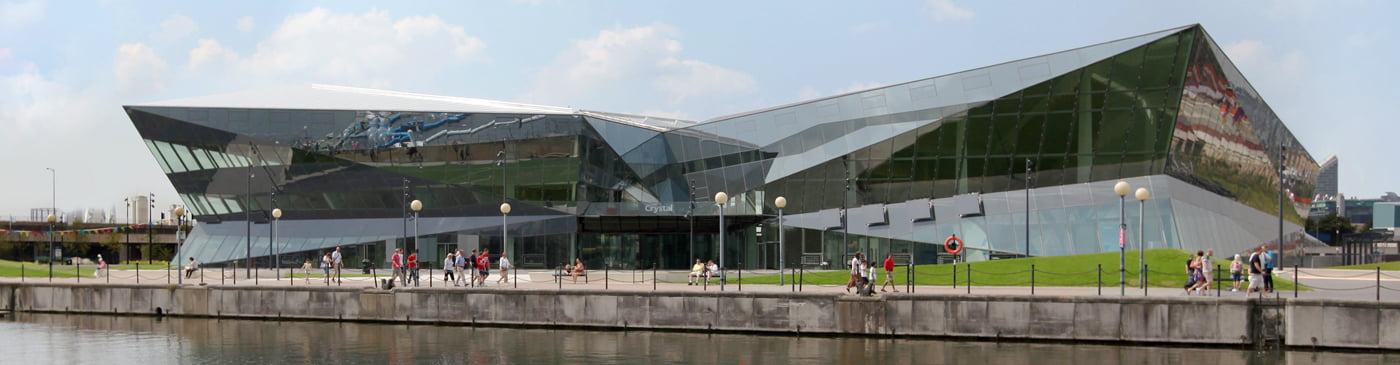 The Crystal, located on Royal Victoria Dock in east London, the world's most sustainable events space, is the only building in the world to achieve the highest certification in both the BREEAM and LEED schemes. An award winning venue for award winners!