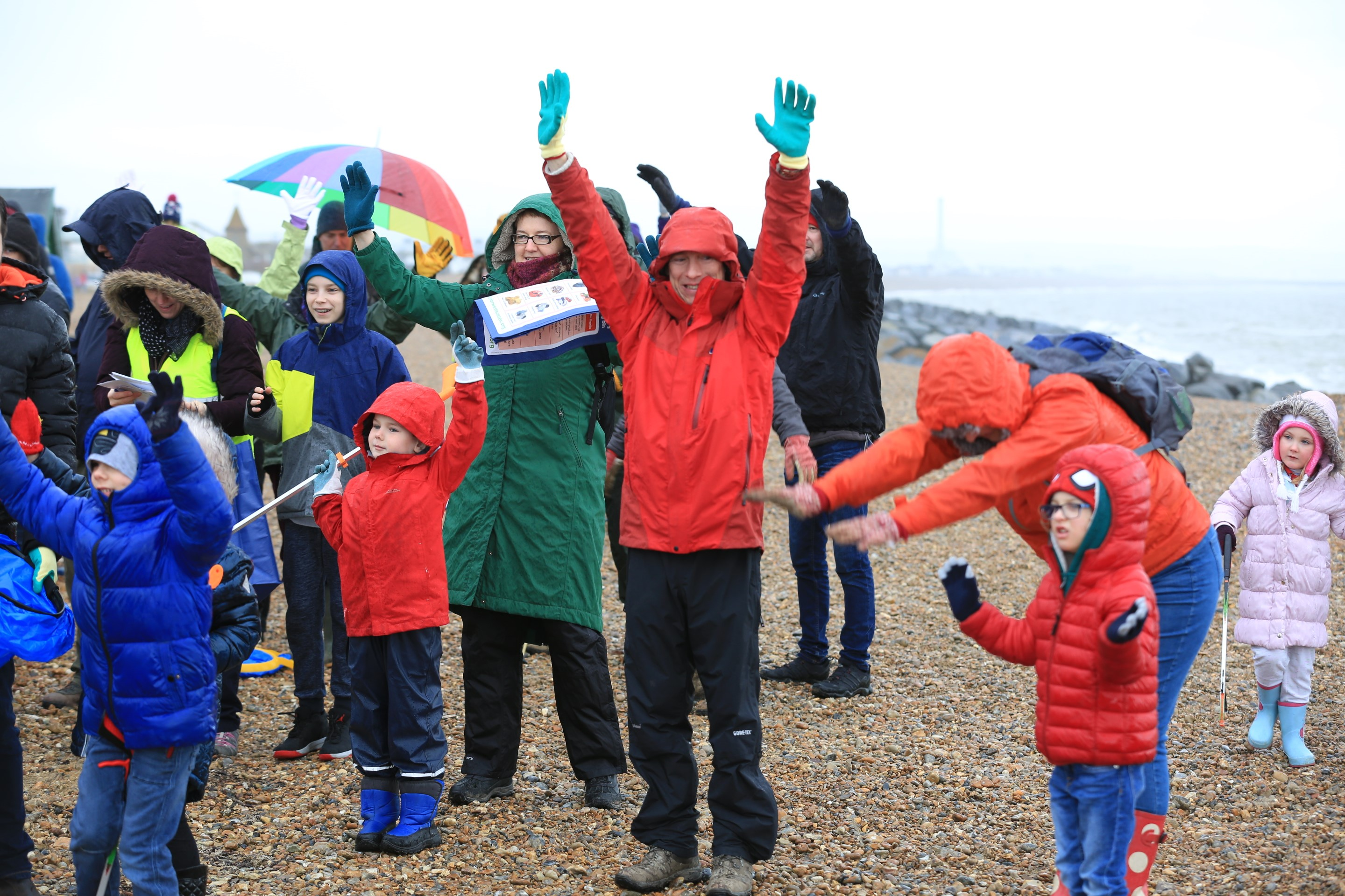 The event kicked off with a beach clean warm-up to get 650 people feeling  energised before they scoured the beach.