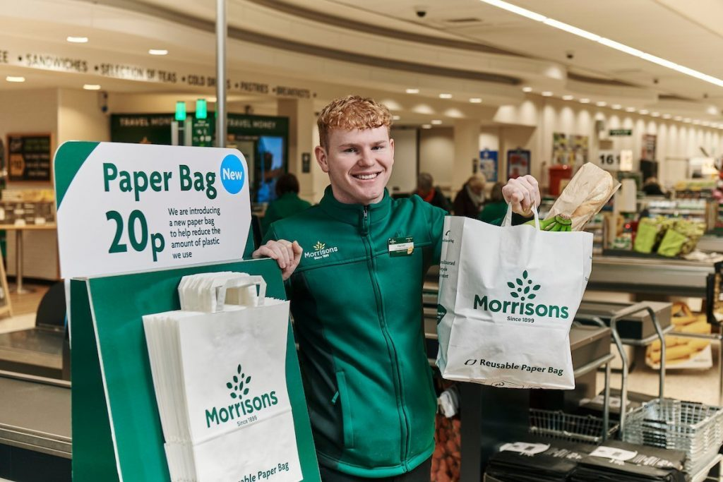 Morrisons to offer paper carrier bags