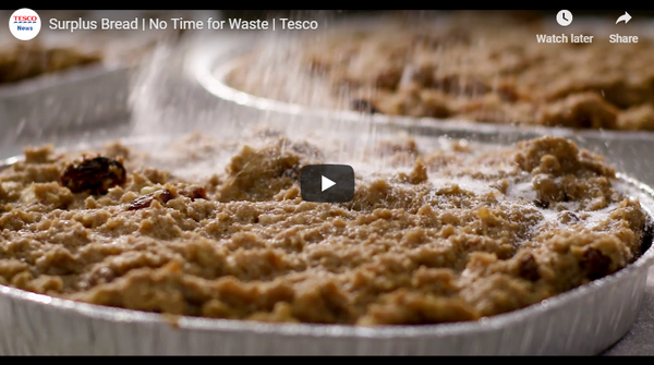 Tesco takes baton to food waste